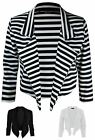 New Womens Waterfall 3/4 Sleeve Cropped Plus Size Casual Formal Blazer Top