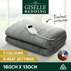 Washable Heated Electric Throw Rug Snuggle Blanket Coral Fleece Heat 3 Colour
