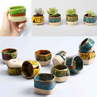 Mini Glazed Ceramic Succulent Planter Flower Bonsai Pot Box Garden Decor Cute