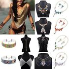 Vintage Pendant Chain Crystal Choker Chunky Statement Bib Necklace Party Jewelry