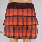 NEW LULULEMON Pace Setter Skirt REG 2 4 10 Yama Check Flaming Tomato Bordeaux