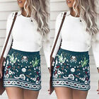 New Women Ladies Fashion Summer Beach Casual Floral High Waist Short Mini Skirt