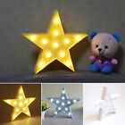 3W Star LED Warm White Table Lamps Indoor Lighting Litght For Home Room Decor