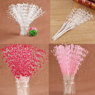 NEW 100 Pearl Sprays Wedding Stem Beads Favor Craft Flower Bouquet Decor Hot JO