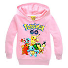 Pokemon Go Boys Girls Kids Hoodie Hooded Pullover Sweatshirt Top Jacket Coat US