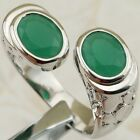 Size 6 7 8 9 Hot Double Green Emerald Jewelry Gold Filled Lady Gift Ring K2194