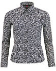 MADCAP ENGLAND 60s 70s WANDERLUST PSYCHEDELIC FLORAL SHIRT BLACK/WHITE MC306