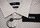 NWT $145 Hugo Boss Slim Fit White Orange Shirt SS Mens M XL Ronn 50309730 626