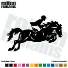 "Hunter Jumper Horse Decal 6""x3.8"" Equestrian Sport Vinyl Window Sticker (RH) C22"