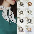 Lady Womens Triangular Print Scarf  Headband Head Neck Kerchief Scarves  Party