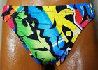 NWT Pumpers Men's Wild Pattern Thong Flat Front Bikini Swim Suit   M-XXL