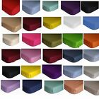 FITTED SHEET LUXURY QUALITY SINGLE DOUBLE KING SUPER KING 4 Feet  pillow case