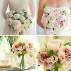 Внешний вид - Bouquet Bridal 5 Heads Silk Flowers Peony Flower Home Wedding Decor 1 Bouquet