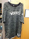 Minnesota Timberwolves Authentic NBA Game Issue Black Gray Shooting Shirt Marked