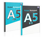 A5 Ruled Notepad 140 Sheets A5 Notebook School Office College - 2 Colours