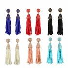 Charm Handmade Seed Beads Tassel Earrings Beaded Chandelier Long Chain Jewelry
