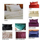 19mm 100% Mulberry Silk Charmeuse 4pc Fitted Sheet Set Mulhome Queen Multi Color
