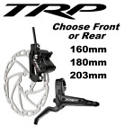 TRP Quadiem Bike Hydraulic Disc Brake Front or Rear & 180 or 203mm Rotor w Lever