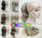 7 Colors Fashion Cute Wavy 12 inches Claw Clip Extension Ponytail Hair Pieces