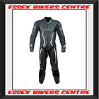 Richa Barracuda Leather Motorcycle One Piece Suit Black White Free 24hr Post