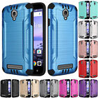 FOR COOLPAD CANVAS 3636ABRUSHED ARMOR CASE HEAVY DUTY COMBAT TPU COVER+STYLUS