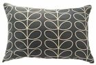 CUSHION COVER made in LINEAR STEM cool grey ORLA BOLSTER RECTANGLE retro  KIELY