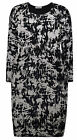 Ladies Abstract Dress New Womens Plus Size Midi Stretch Curve Dress UK 14 - 28