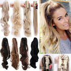 New Jaw Claw On Long Ponytail Clip In Hair Extensions Blonde Mix Brown Ombre TH5