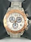 Men's Invicta 11450 Pro Diver Stainless Steel Rose Gold Accent Chronograph Dial