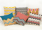 Wave style  Flax Linen Throw Pillow Case Cushion Cover Home Decor
