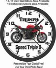 2017 TRIUMPH SPEED TRIPLE S WALL CLOCK-FREE US SHIP, DUCATI, SUZUKI, HONDA $49.99 USD on eBay