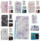 For Huawei P9 Lite Marble Pattern Glossy PU Synthetic Leather ID Card Case Cover