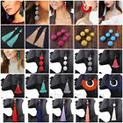 Women Bohemian Fringe Boho Long Tassel Hook Drop Dangle Ear Stud Earrings Gift