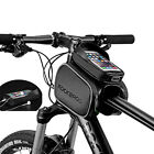 ROCKBROS Cycling Frame Tube Bag Rainproof Touch Screen Fit 5.8'' 6.2'' Phone New