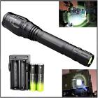 Zoomable CREE XML T6 LED 8000 LM Flashight 18650 5 Modes Torch Lamp+Charger TL