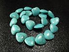 18mm 20mm Blue / Red Turquoise Gemstone Heart Spacer beads Jewelry 16""