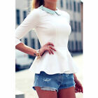 Fashion Ladies Casual Tops T-Shirt Women Summer Loose Top Short Sleeve Blouse #