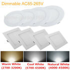 Dimmable 6W 9W 12W 15W 18W LED Bulbs Recessed Ceiling Panel Light Spot Lamp