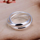 Designer Inspired 925 Sterling Silver Chic Triple Rolling 10mm Band Ring E666
