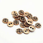 12pcs Round Snowflake 2-Hole Flat Buttons Coat Clothes Sewing Embellishment 10mm