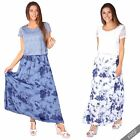 Womens Ladies Gypsy Boho Loose Baggy Mesh Crop Top Floral Summer Maxi Sun Dress