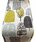 1 TABLE RUNNERS - TRAD chartreuse mustard lime grey TREES LEAF - l xmas runner