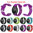 22MM Silicone Replacement Band Wrist Strap for Garmin Fenix 5S GPS Watch