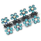 12PCS Baby Girl lady Crystal Flower Mini Hair Claw Clamp Hair Clip Hair Pin TO