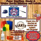 Baseball Birthday Sticker Favor Address Water Bottle Labels 1 Sheet Personalized on Ebay