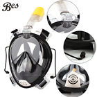 180° Full Face Snorkeling Mask Scuba Diving Swimming Snorkel Breather Pipe Gopro