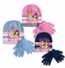 Girls Princes Hat And Gloves New Comic Kids Disney Winter Sets Ages 3 - 12 Years