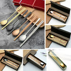 Korean Chopstick Spoon 2 Set 18/10 Stainless Steel Chopsticks High Quality UI