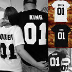 2017 Couple T-Shirt King 01 And Queen 01 Love Matching Shirts Summer Tee Tops