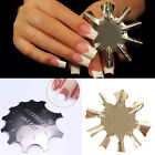 Easy French Smile Line Edge Cutter Stencil Trimmer Nail Art  Template